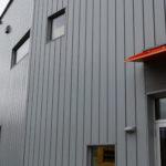 Regent/ light grey hidden fastener panels with vertical installation